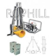 Obturator hidraulic PE 180-250mm actionat hidraulic cu compresor