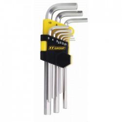 Set chei imbus hexagonale extra lungi 9 buc , 1.5-10mm in suport de plastic