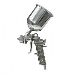 Pistol de vopsit cu recipient superior
