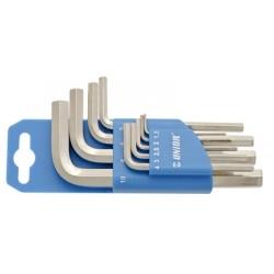 Set de chei locas hexagonal in suport de plastic 9 buc Unior