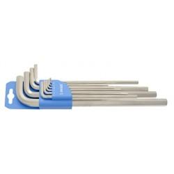 Set de chei locas hexagonal lungi in suport de plastic 9buc Unior