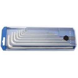 Set de chei locas hexagonal lungi in suport de plastic 8buc Unior