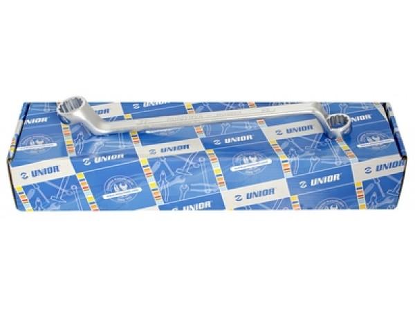Set de chei inelare dublu cotite in cutie de carton 12buc Unior