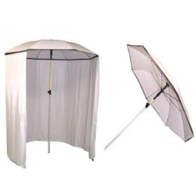 Umbrela sudura alba cu perdea